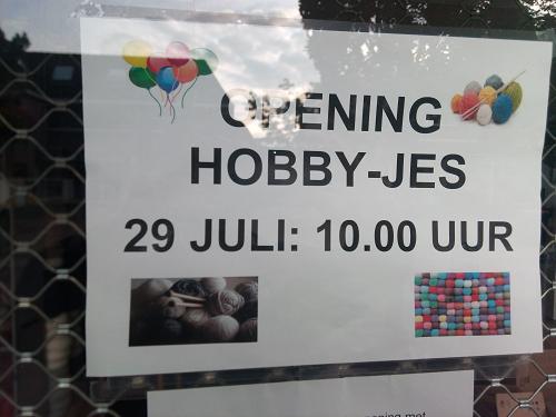 Hobby-jes opent nieuwe winkel!