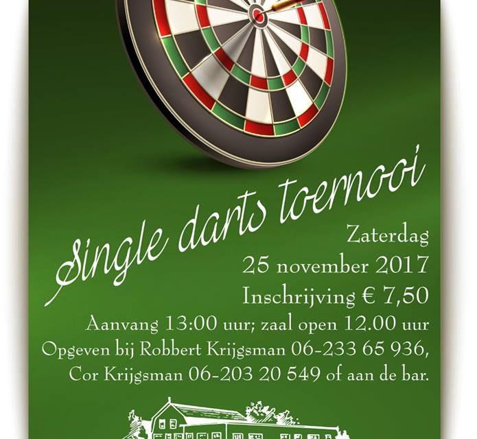 Single darts toernooi