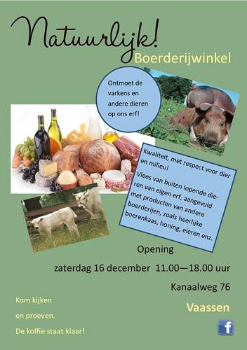 Open dag Boerderijwinkel Vaassen!