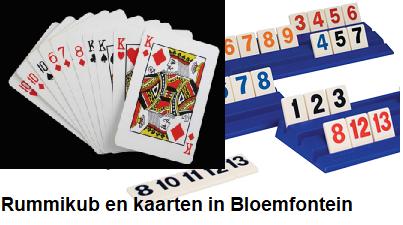 Rummikub en kaarten in Bloemfontein Vaassen