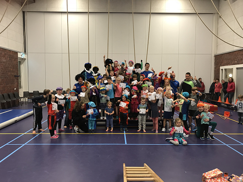 Meer dan 120 nieuwe hulppietjes tijdens de Pietengym in Epe en Oene!