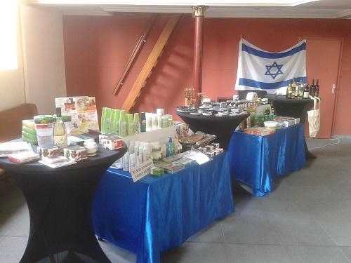 Proeverij van Israëlische wijnen en Israëlproducten