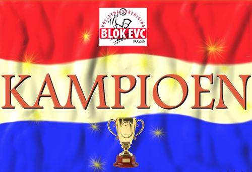 Vier kampioensteams bij volleybalvereniging Blok EVC