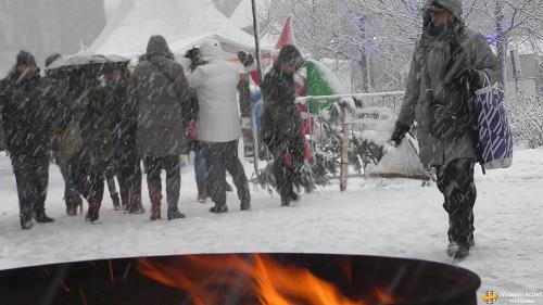 Eerste sneeuwval in Vaassen 2017
