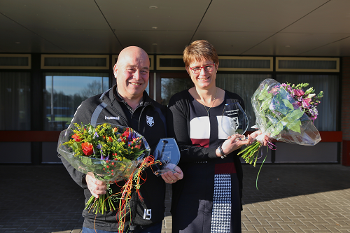 Petra Leerkes en Johan van Ast: KCVO's verenigingsvrouw en –man van het jaar