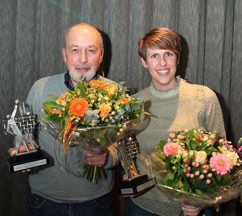 Wim Bourgonje en Lisette Schumacher-Vierwinden Verenigingsman en -vrouw 2017 van Blok EVC