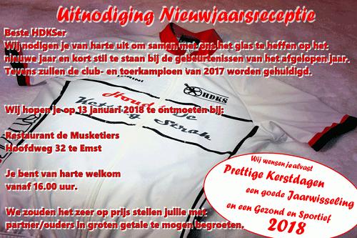 """Nieuwjaarsreceptie Wielerclub """"Houdt de Ketting Strak"""" uit Emst"""