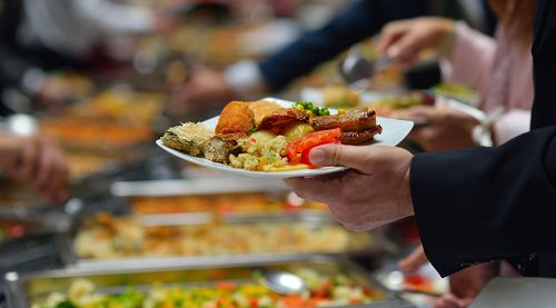 Smakelijk buffet van Koppel-Swoe in Bloemfontein