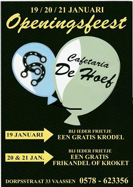 Openingsfeest Cafetaria De Hoef