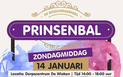 Rossumdaerper Prinsenreceptie op 14 januari