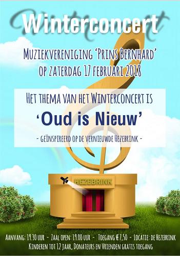 """Winter Concert Muziekvereniging """"Prins Bernhard"""" Emst"""