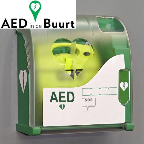 Vind de AED bij jou in de buurt en red leven