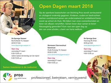 Opendag basisschool Sprenge Vaassen woensdag 21 maart!