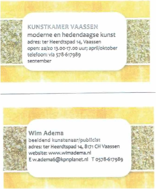 nieuwe galerie in Vaassen geopend: de KUNSTKAMER.