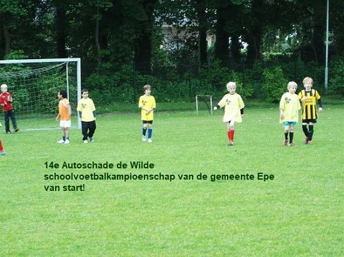 14e Autoschade de Wilde schoolvoetbalkampioenschap van de gemeente Epe van start!