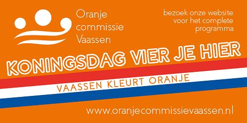Morgen 27 april Koningsdag. Vaassen kleurt Oranje!