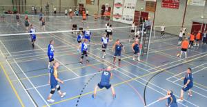 Finale avond De Wilde Buurt-en bedrijven volleybaltoernooi Blok EVC in wieken