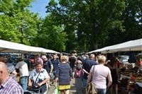 Grote Vlooien- en Hobbymarkt in het centrum van Epe