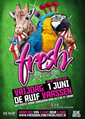 """""""Fresh""""een feest voor jongeren van 14 t/m 17 jaar in Café Bar de Ruif"""