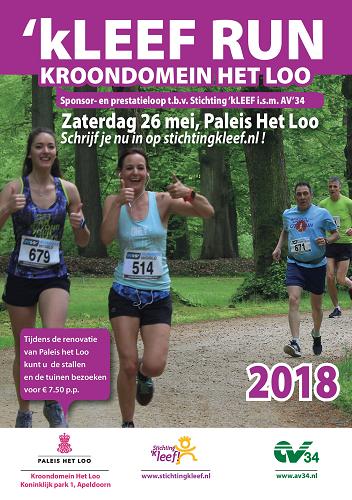'kLEEF Run Kroondomein Het Loo op zaterdag 26 mei