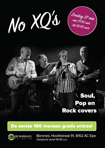 Optreden band No XQ's bij de Barones in Epe