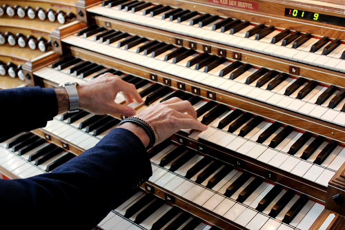 Martin Mans geeft orgelconcert op Meere orgel in de Grote Kerk Epe