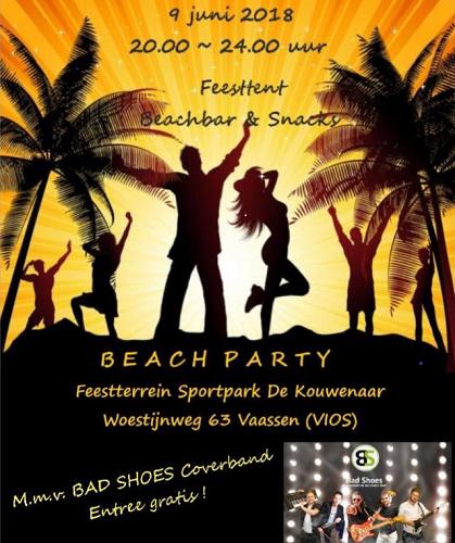 Beach party bij C.S.V. Vios Vaassen, aftrap voor de Vaassense Dorpsavonden!