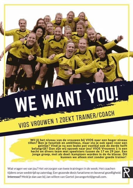 Vios vrouwen 1 zoekt Trainer/Coach