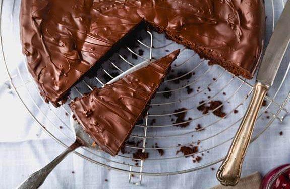 Heerlijke chocoladetaart zonder oven