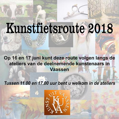 Kuva kunstfietsroute 16 en 17 juni Vaassen