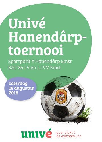 vv Emst en Univé zijn klaar voor 8e editie Univé Hanendârptoernooi