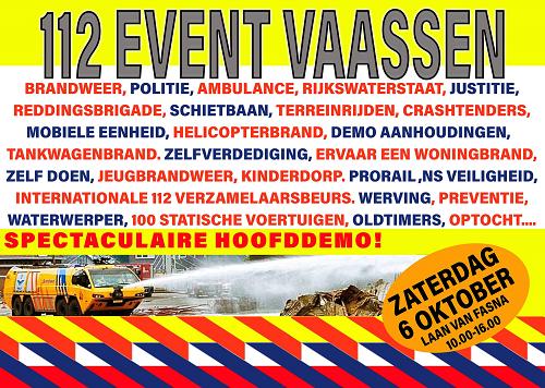Auto's werpen tijdens landelijk 112 event Vaassen