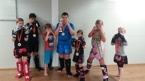 Jeugdteam Budo-Blok Kickboxing op demodag in Goch (Duitsland)