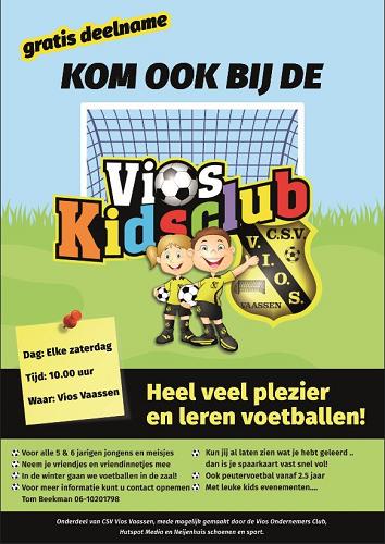 Kom vanaf zaterdag 22 september ook bij de Vios Kidsclub