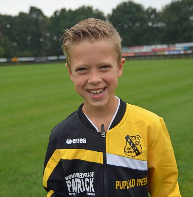 Pupil van de week bij Vios voetbal is Mats van Bussel