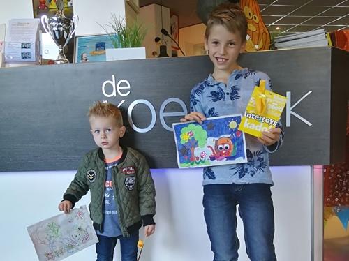 Wesley en Senn winnen kleurwedstrijd van De Koekoek / De Wieken