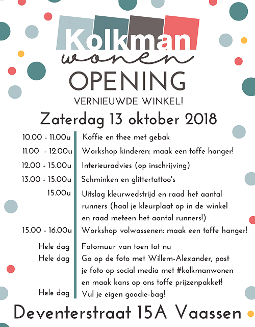 Opening Vernieuwde Winkel Kolkman Wonen