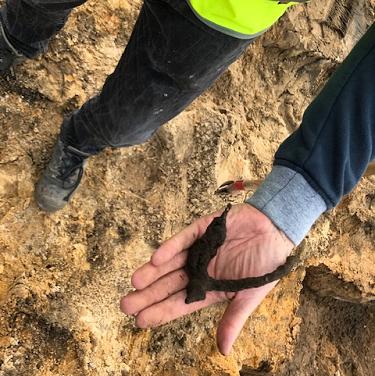 Sporen uit de middeleeuwen gevonden in Epe
