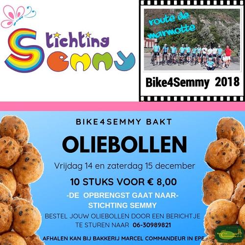 Oliebollen actie Stichting Semmy