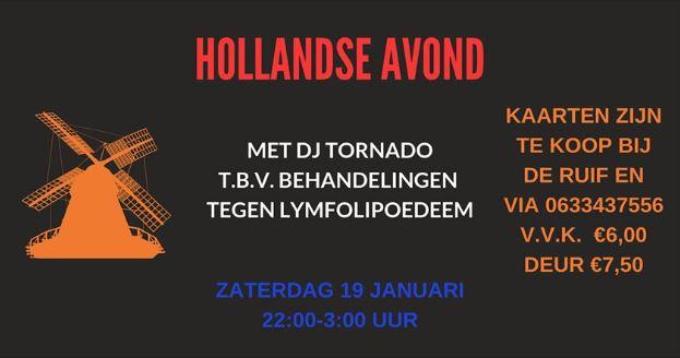 Hollandse avond tegen lymfolipoedeem