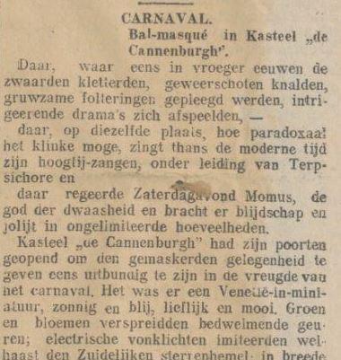 "Bal-masqué in Kasteel ""de Cannenburgh"""