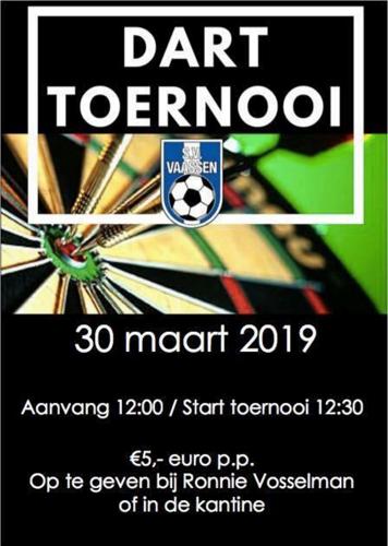 Dart toernooi  bij SV Vaassen