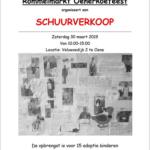 Rommelmarkt Oener Koefeest organiseert een schuurverkoop op 30 maart