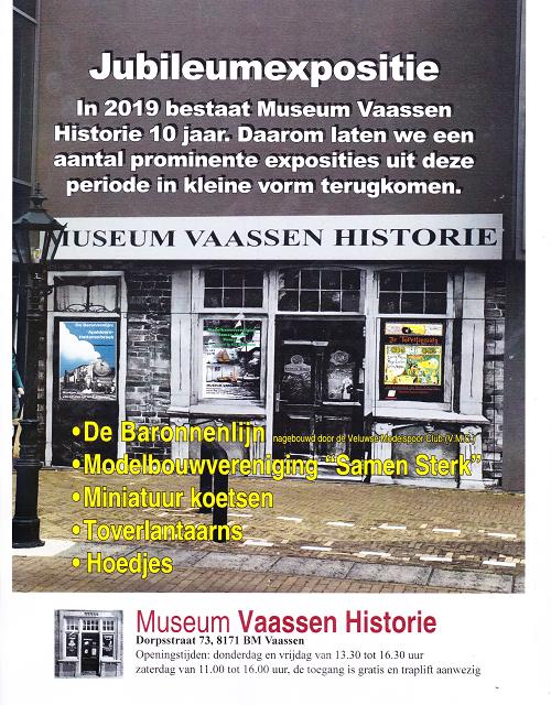 Jubileumexpositie in Museum Vaassen Historie
