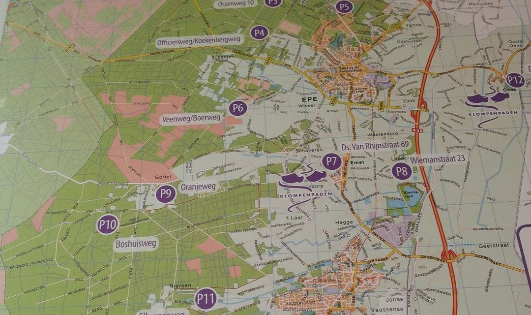 Wandelkaart Noord-Oost Veluwe