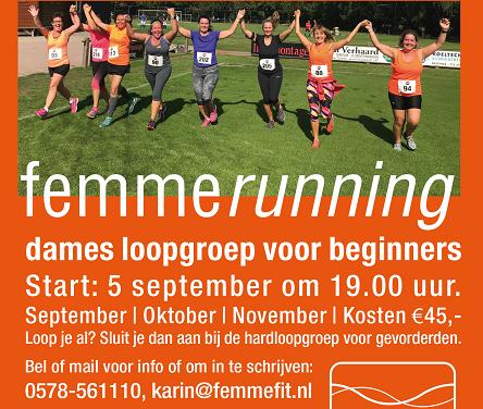 Femmefit Vaassen start loopgroep voor beginners!