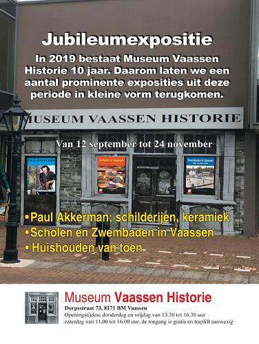 Museum Vaassen Historie deze week gesloten!
