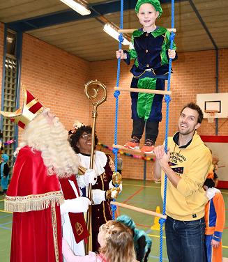 Sinterklaas op bezoek bij Vios