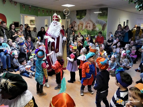 Sint op bezoek bij kinderopvangcentrum KOM lokatie Nijntje