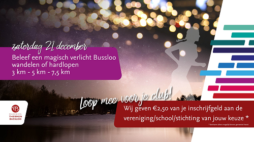 Christmas Night Rondje Thermen Bussloo (wandelen & hardlopen)
